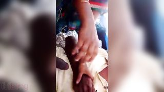 Desi cheating wife engulfing knob of her bf in public