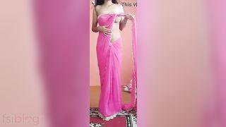 Hottest Indian Saree striptease sex movie scene ever discharged