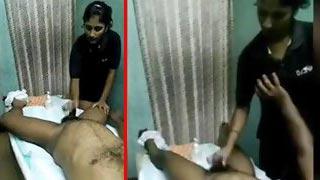 Desi massage parlour sex MMS movie discharged by a client