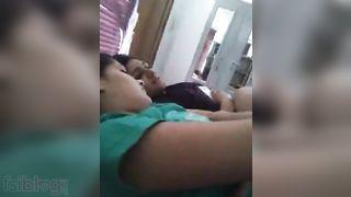 Desi cuties singing a vulgar song and having enjoyment in their hostel