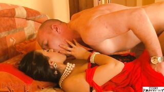 Hindi sex episode of a newlywed NRI girl pleasuring her excited husband