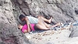 Desi chudai of a village aunty with her love in the forest
