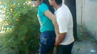 Bangla XXX movie of a young couple enjoying outdoor sex