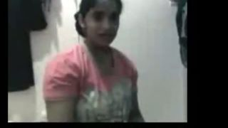 Bengali sex movie scene of a glamorous legal age teenager stripping for her lover on cam