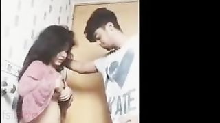 Tamil sex clip of an non-professional couple enjoying a wonderful home sex session