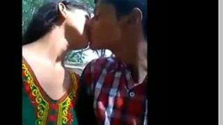 Indian legal age teenager porn video of a college pair having pleasure in a park