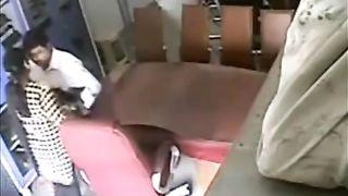 Hidden web camera catches school teacher having enjoyment with her colleague