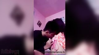 Legal age teenager girl enjoys a romantic home sex session with her boyfriend