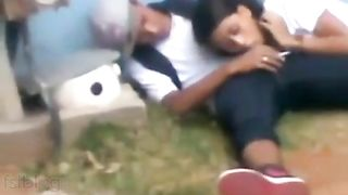 College angel giving her bf a nice oral pleasure outdoor