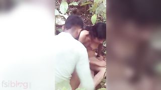 Cute south Indian angel enjoys outdoor sex with her boyfriend