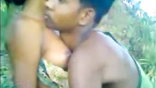Outdoor South Indian sex episode of desi girl with bf