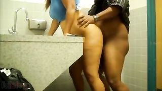Indian office desi gal sex clip with boss in washroom