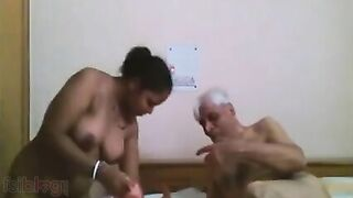 Indian blue film movie of older Uncle fucking his maid!