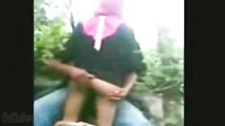 Desi sex video of nepali legal age teenager couple outdoor