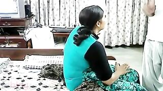 XXX Indian aunty sex clip with husbands superlatively good ally!