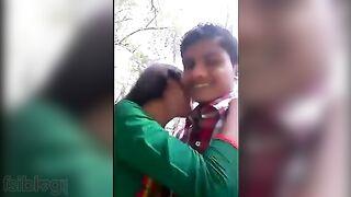 Desi mms Bangla sex movie scene of teen college girl recorded outdoors
