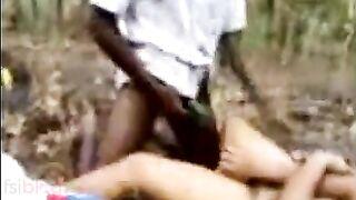 Blue film Bengali sex movie scene of legal age teenager girl Jyothi fucking outdoors
