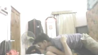 Desi mms sex scandal of Indian girl with horny neighbour chap