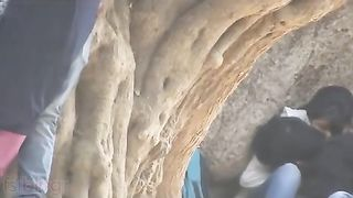 Hidden web camera desi mms of college paramours romancing publicly!
