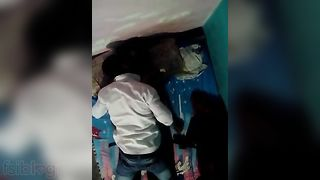 Desi Indian aunty fucking with bf caught on hidden web camera!