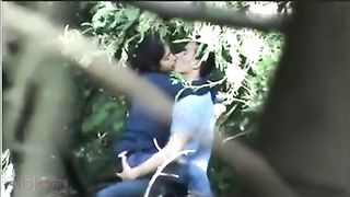 Outdoor sex scandal of college angel caught on hidden webcam by classmate