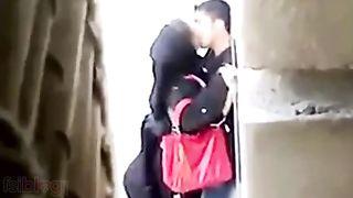 Hidden web camera Pakistani sex movie of Muslim girl outdoor sex dripped