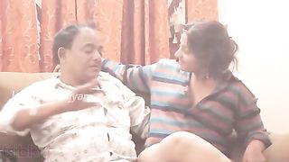 Home sex mms clip of older Indian cheating wife trickled