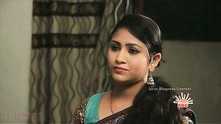 Devar seduces large pantoons bhabhi in saree in bedroom!