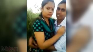 Desi village beauty ardent outdoor kissing mms scandal