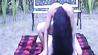 Assam legal age teenager babe passionate outdoor sex with servant