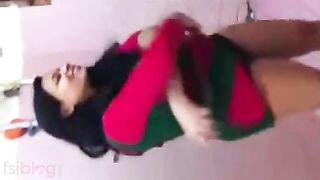 Bengali mallu giant bazookas hot wife captured by hubby