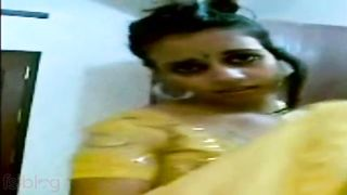 Indian wife strips for spouse and exposes muff