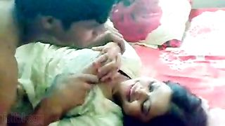 Shy Indian wife foreplay on her Honeymoon