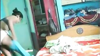 Indian lewd housewife caught by devar