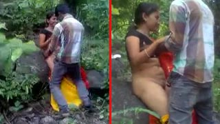 Outdoor hardcore village sex fun with innocent teen girlfriend
