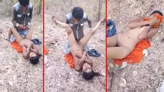Indian outdoor sex! Mallu village bhabhi outdoor fucked by perv devar