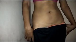 Man has XXX sex with his slender Desi wife in amateur homemade porn